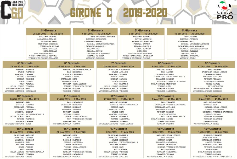 Calendario Lega Pro Girone C.Calcio Ecco Il Calendario Della Serie C Per Catanzaro E